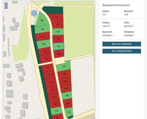 Interaktiver Grundstücksplan