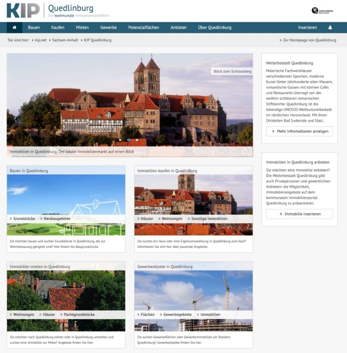 Immobilien in Quedlinburg mit KIP