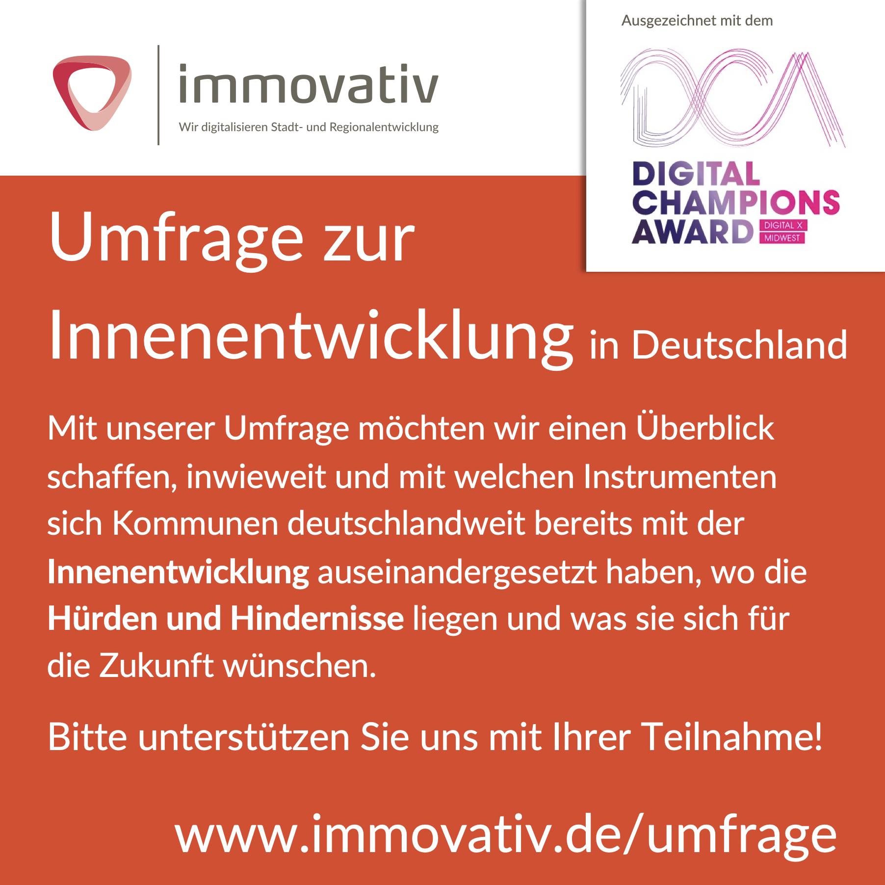 Umfrage zur Innenentwicklung in Deutschland