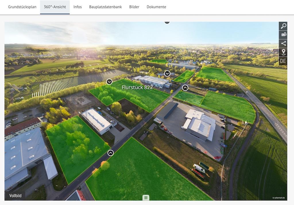 Baugebiet in 360°