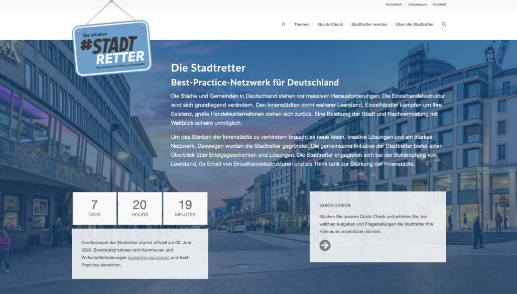 Webseite Die Stadtretter