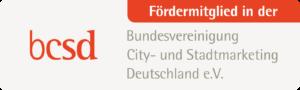 Fördermitglied in der Bundesvereinigung City- und Stadtmarketing Deutschland e. V.
